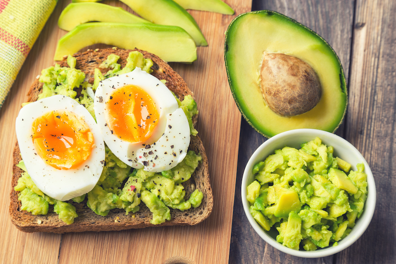 healthy breakfasts avocado egg toast